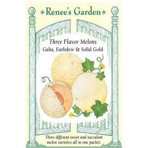 Three Flavor Melons Galia, Earlidew & Solid Gold F1 - My Organic World
