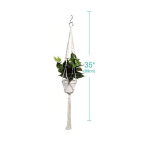 Handmade Cotton Hanging Planter Set